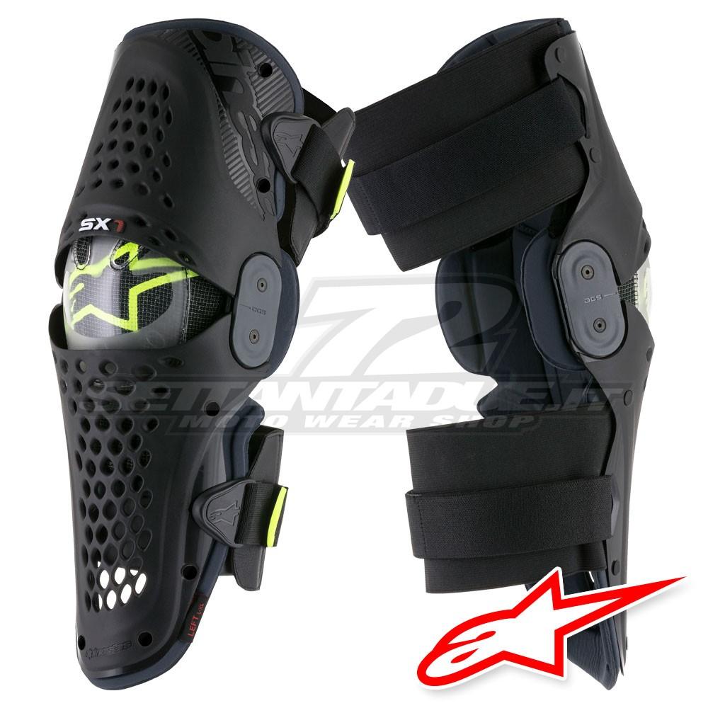 Alpinestars SX-1 Knee Guards-Black//Antracite-L//XL
