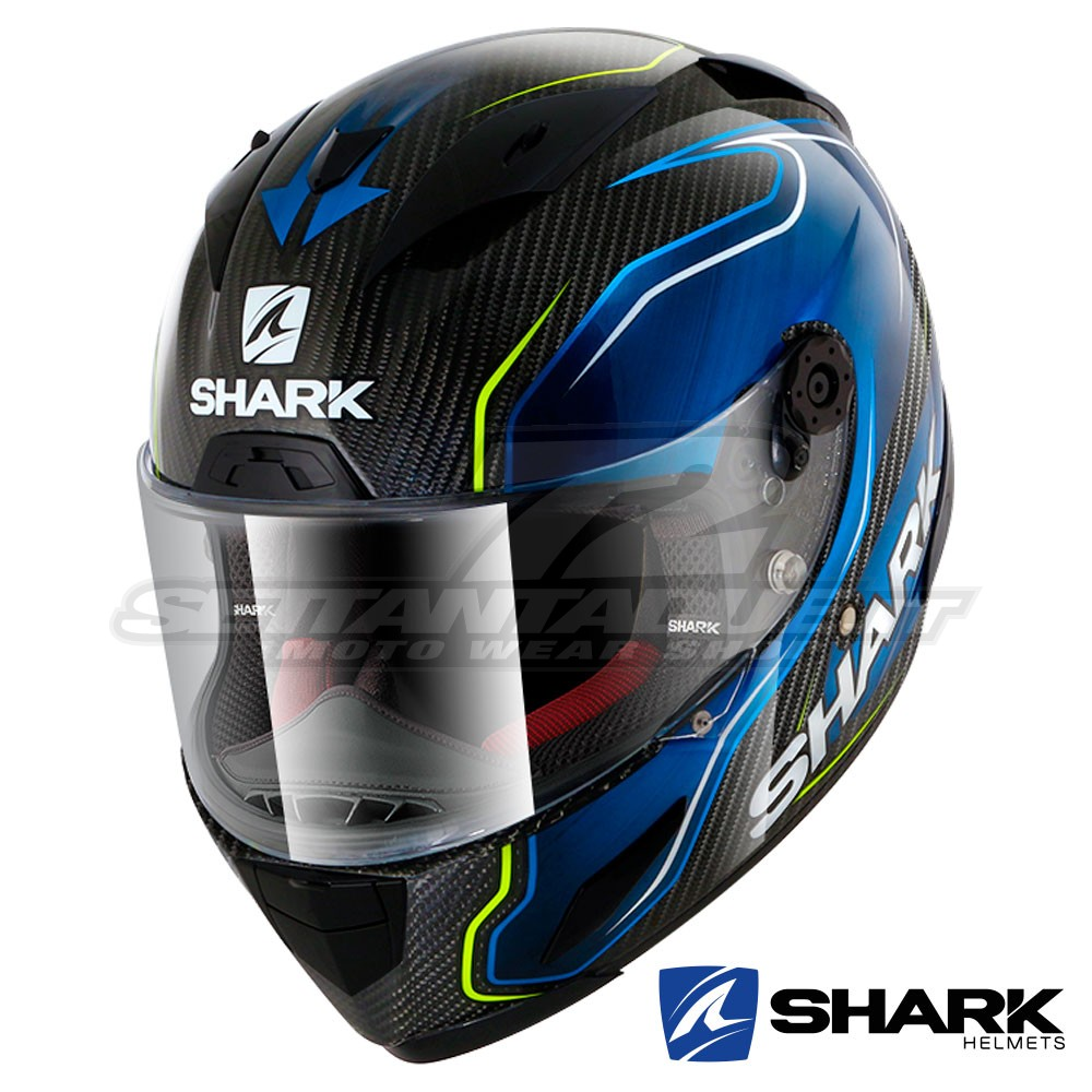8fa7ae15aa459 Shark RACE-R PRO CARBON Replica Guintoli Full Face Helmet - Black ...