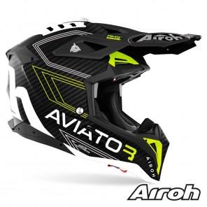 Airoh AVIATOR 3 Primal Helmet - Yellow Matt