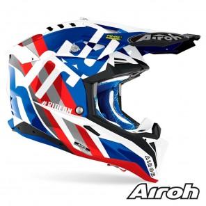 Airoh AVIATOR 3 Rainbow Helmet - Blue Red