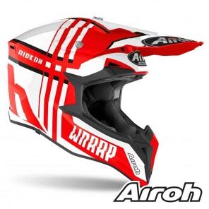 Airoh WRAAP Broken Helmet - Red