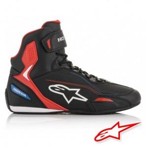 Alpinestars HONDA FASTER-3 Shoes - Black Red Blue