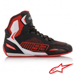 Alpinestars MM93 AUSTIN KNITTED Riding Shoes - Black White Red