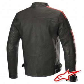 Alpinestars HONDA CHARLIE Leather Jacket - Black Beige Red