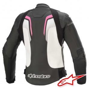 Alpinestars STELLA GP PLUS R V3 Leather Jacket - Black White Fuchsia