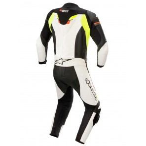 Alpinestars GP FORCE CHASER Leather Suit - Black White Red Fluo Yellow Fluo