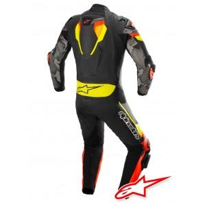 Alpinestars ATEM V4 Leather Suit - Black Red Fluo Yellow Fluo