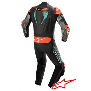 Alpinestars ATEM V4 Leather Suit - Black Petrol Red Fluo