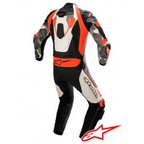 Alpinestars ATEM V4 Leather Suit - White Black Red Fluo Grey