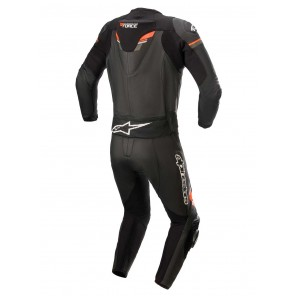 Alpinestars GP FORCE CHASER 2pc Leather Suit - Black Red Fluo