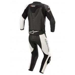Alpinestars GP FORCE PHANTOM 2pc Leather Suit - Black White Metallic Grey