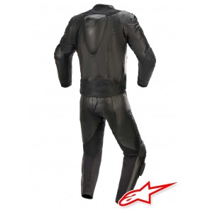 Alpinestars GP PLUS V3 GRAPHITE 2pc Leather Suit - Black