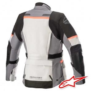 Alpinestars STELLA ANDES V3 DRYSTAR Jacket - Ice Grey Dark Grey Black Coral