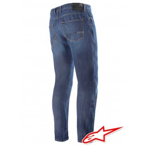 Alpinestars VICTORY Denim Pants with Kevlar - Mid Tone Blue