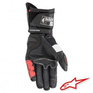 Alpinestars SP-2 V3 Leather Gloves - Black White Bright Red