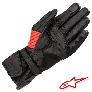 Alpinestars MM93 TWIN RING Leather Gloves - Black Red