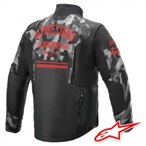Alpinestars VENTURE R Jacket - Grey Camo Red Fluo