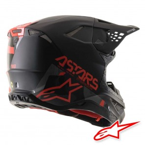 Alpinestars SUPERTECH S-M8 Echo Helmet - Black Grey Red Fluo