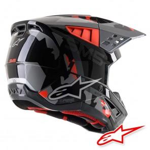 Alpinestars S-M5 Rover Helmet - Anthracite Red Fluo Grey Camo