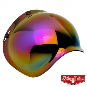 Biltwell BUBBLE Anti-Fog Shield - Rainbow Mirror