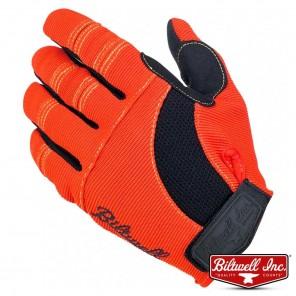 Biltwell MOTO Gloves - Orange Black Yellow