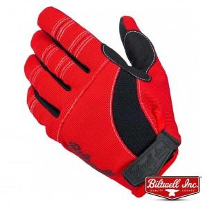Biltwell MOTO Gloves - Red Black White
