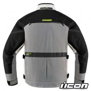 Icon RAIDEN Jacket - Grey Hi-Viz