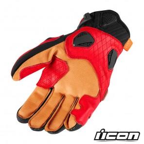 Icon HYPERSPORT SHORT Gloves - Red