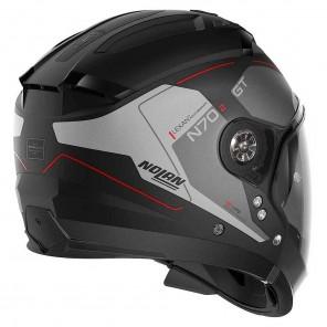 Nolan N70-2 GT N-COM Lakota 35 Helmet - Flat Black Anthracite Red