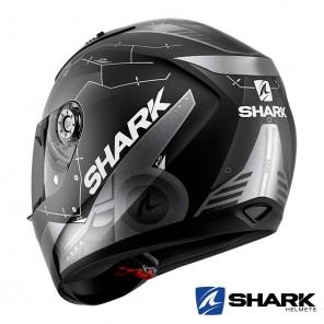 Shark RIDILL Mecca Mat Helmet - Black Anthracite Silver