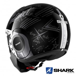 Shark STREET-DRAK Tribute RM Helmet - Nero Antracite Bianco