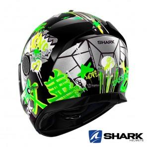 Shark SPARTAN Lorenzo Catalunya GP Helmet - Black Green Glitter
