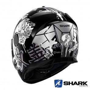 Shark SPARTAN Lorenzo Catalunya GP Helmet - Black White Glitter