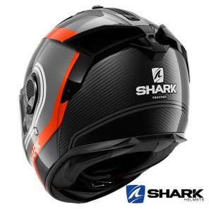 Shark SPARTAN GT CARBON Tracker Helmet - Carbon Anthracite White