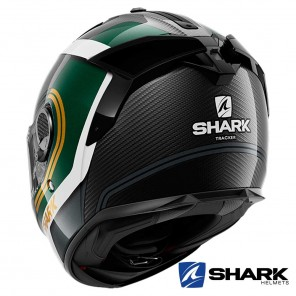 Shark SPARTAN GT CARBON Tracker Helmet - Carbon Green Gold