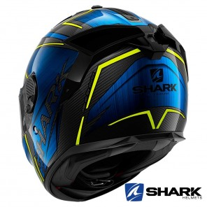Shark SPARTAN GT CARBON Kromium Helmet - Carbon Chrom Blue