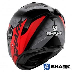 Shark SPARTAN GT Elgen Mat Helmet - Black Anthracite Red