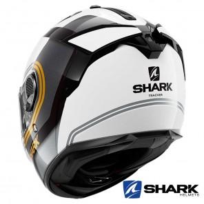 Shark SPARTAN GT Tracker Helmet - White Black Gold