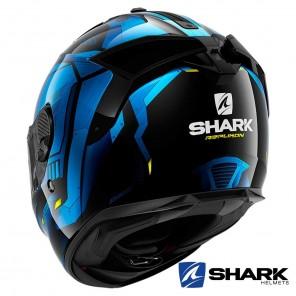 Shark SPARTAN GT Replikan Helmet - Black Chrom Blue