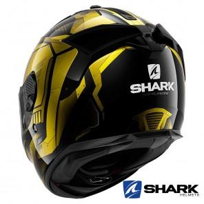 Shark SPARTAN GT Replikan Helmet - Black Chrom Gold