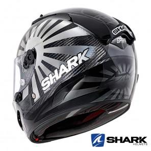 Shark RACE-R PRO CARBON Replica Zarco GP France 2019 Helmet - Black Chrome Anthracite