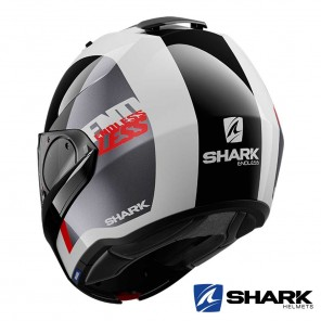 Shark EVO-ES Endless Helmet - White Black Red