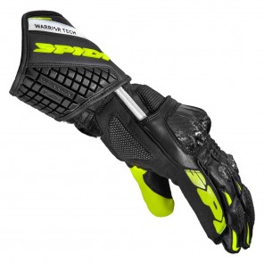 Spidi CARBO 5 Leather Gloves - Black Fluo Yellow