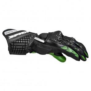 Spidi CARBO 5 Leather Gloves - Black Green