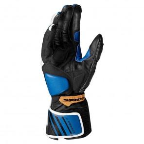 Spidi CARBO 7 Leather Gloves - Blue Gold