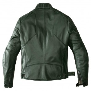 Spidi CLUBBER Leather Jacket - Green Ice