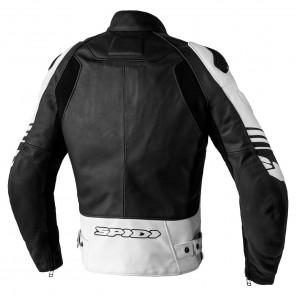 Spidi TRACK WARRIOR Leather Jacket - Black White