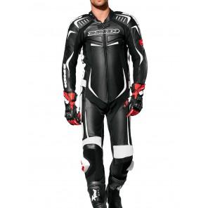Spidi TRACK WIND PRO Leather Suit - Black White