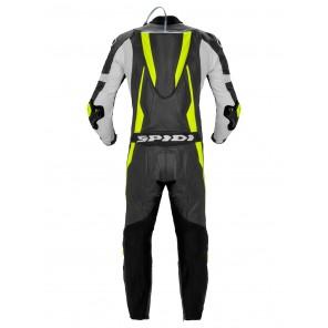 Spidi SPORT WARRIOR P PRO Leather Suit - Black Yellow Fluo