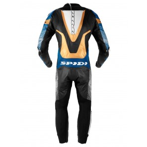 Spidi SUPERSONIC PERF PRO Leather Suit - Blue Gold